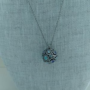 Brighton NWT 😇Sphere Halo Necklace Blue/Silver